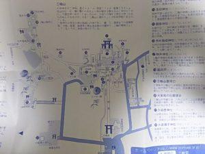 三輪山一帯の地図